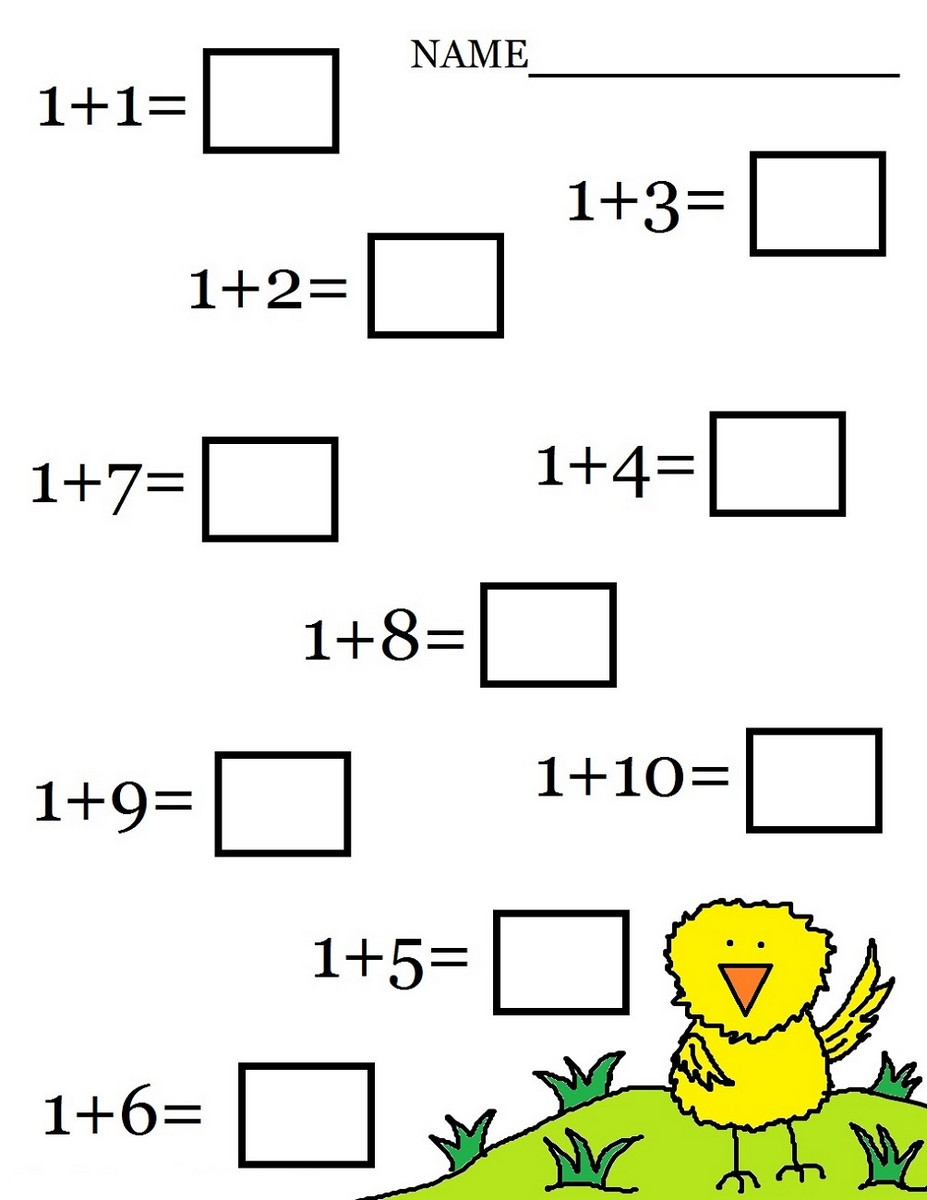 Math worksheets printable easy addition
