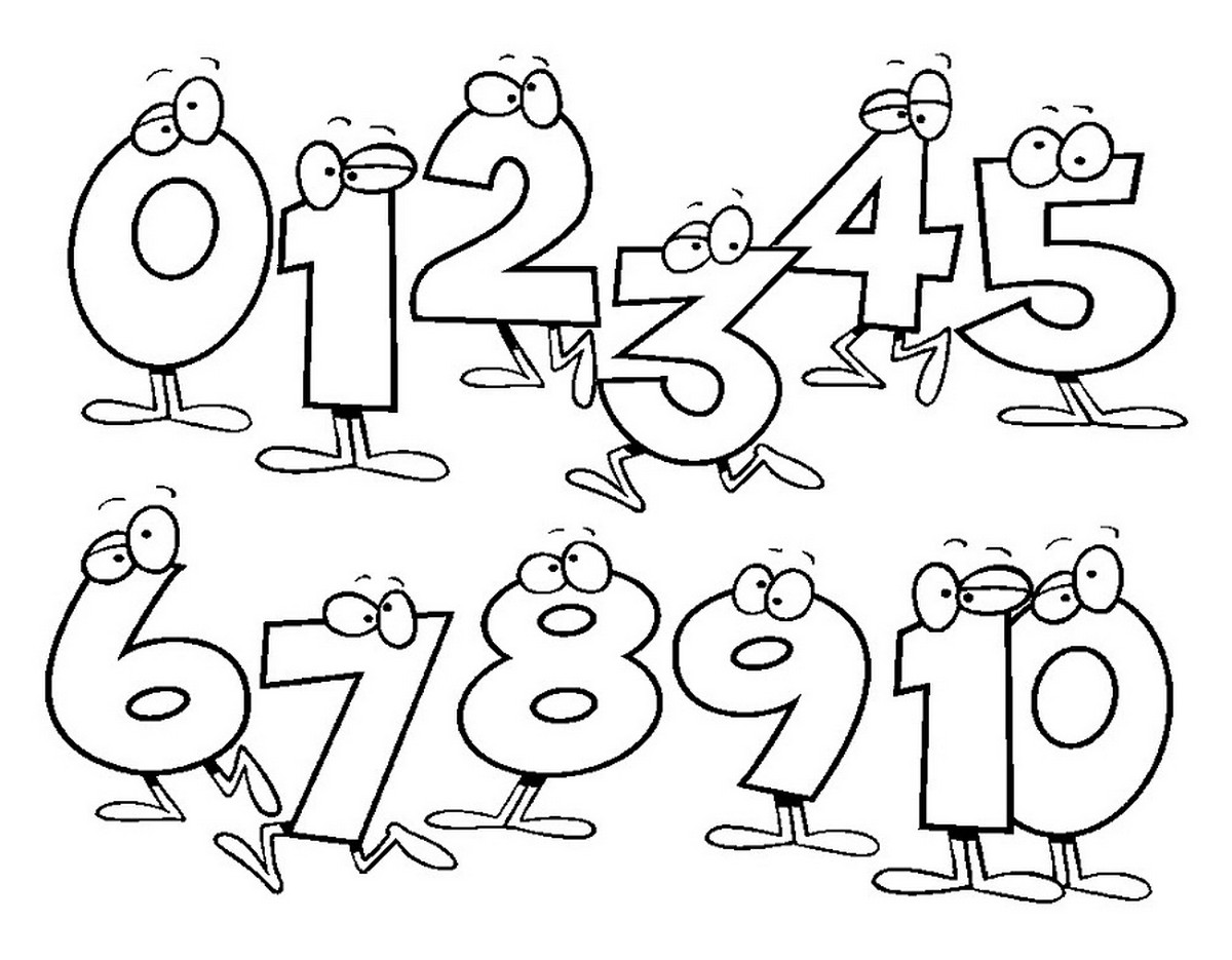Printables for kids to color numbers
