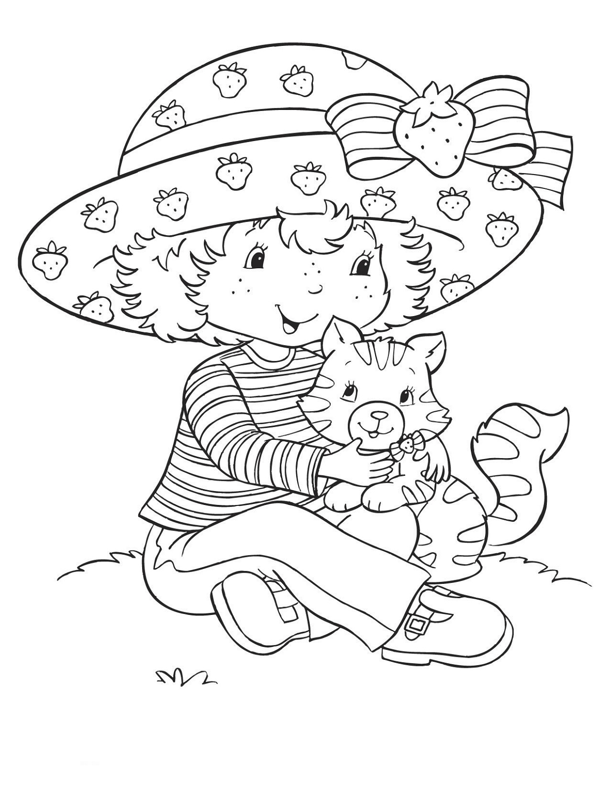Strawberry Shortcake Coloring Pages Learning Printable