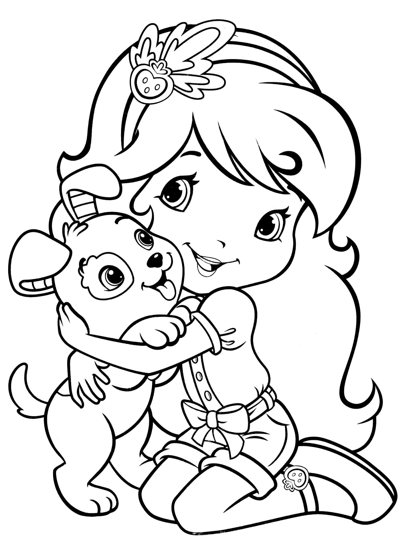 Strawberry Shortcake Coloring Pages for Teens