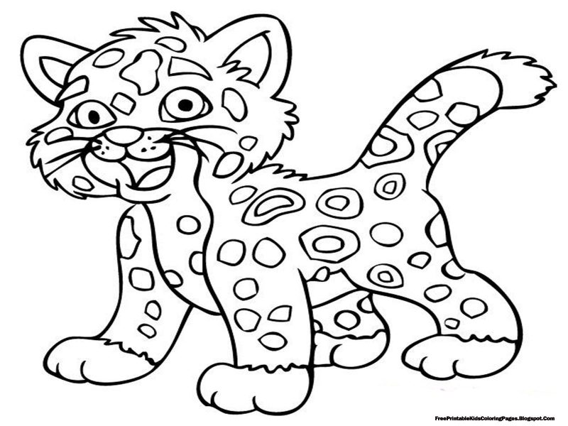 coloring pages for kids printable jaguar