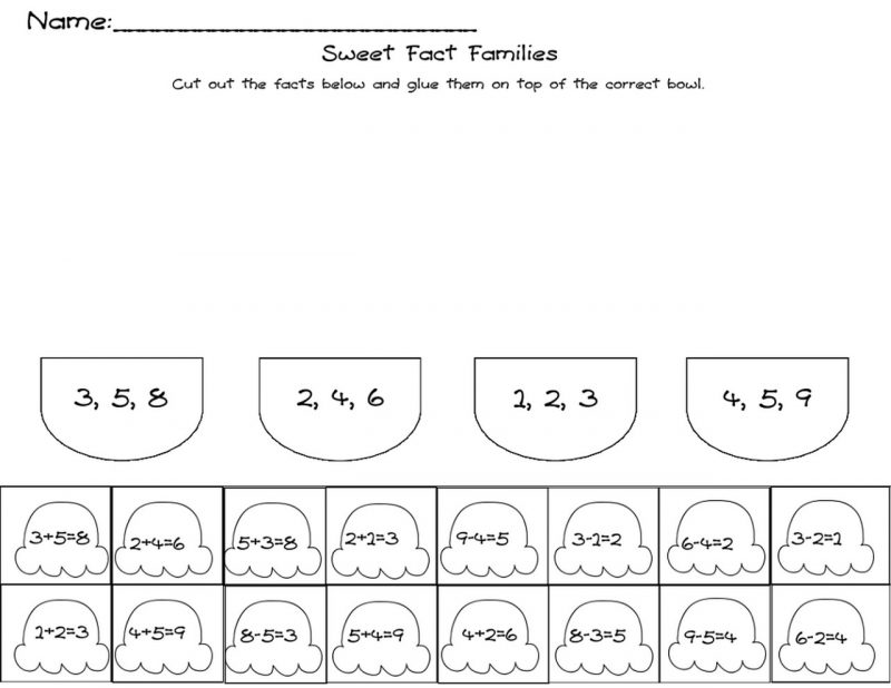 fact families worksheet practice