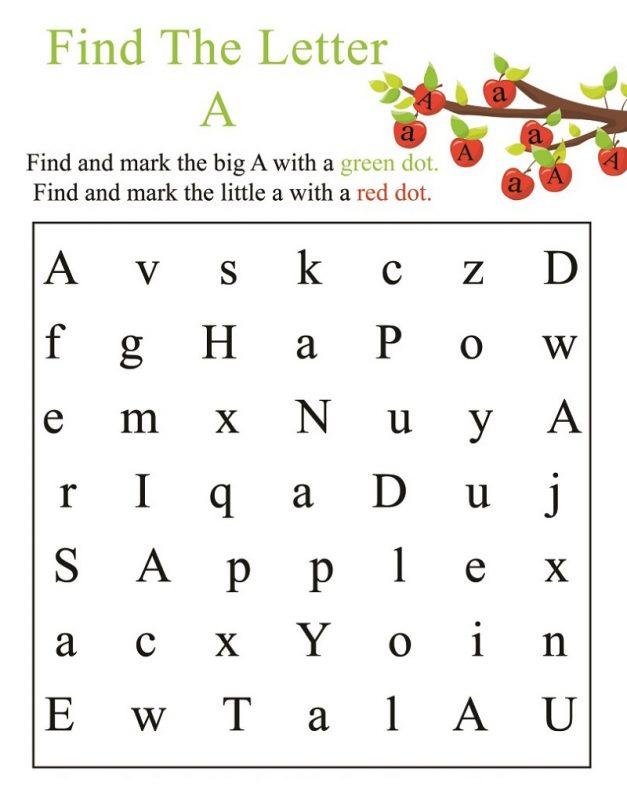 find letter worksheet activity