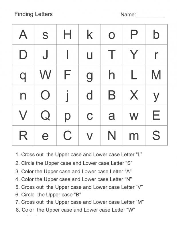 find letter worksheet page