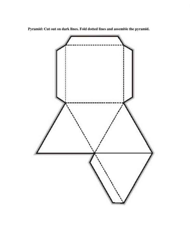 3 dimensional cube template - free printable 3d shape nets template learning printable