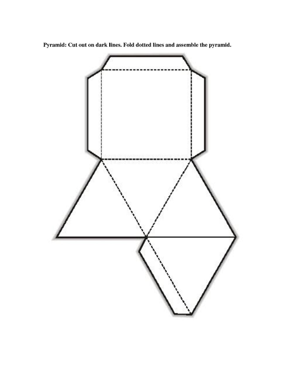 Free printable 3d shape nets template learning printable for Geometry net templates