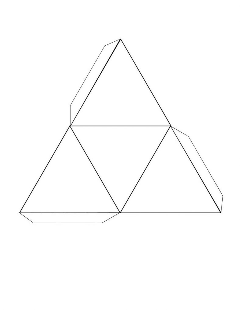 Free Printable 3d Shape Nets Triangular on 3d Shapes Worksheets