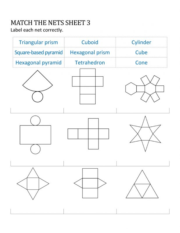 geometry nets printable sheet