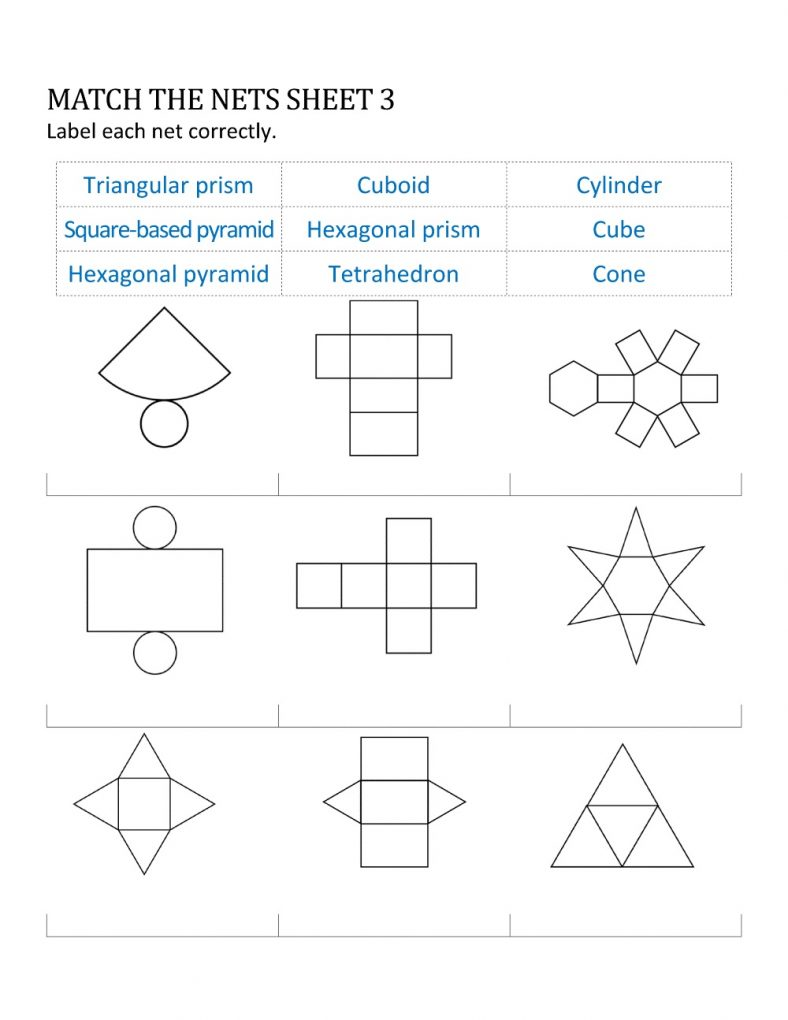 geometry nets printable sheet – Learning Printable