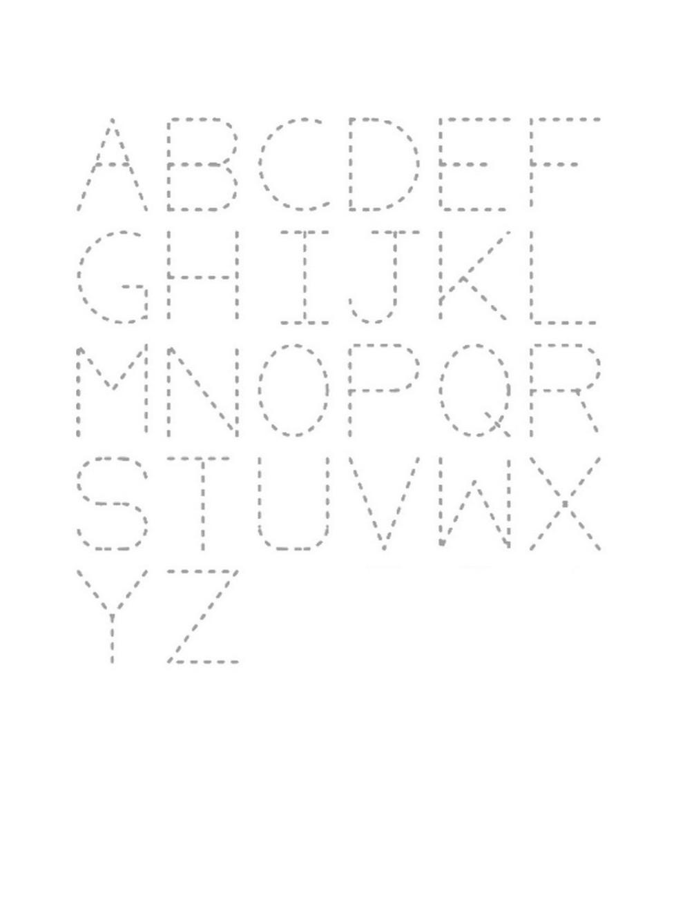 kindergarten letter tracing printable