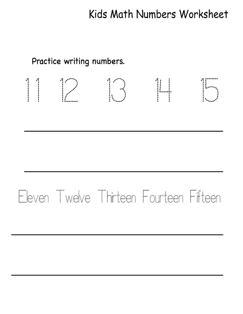 learning numbers worksheets printable