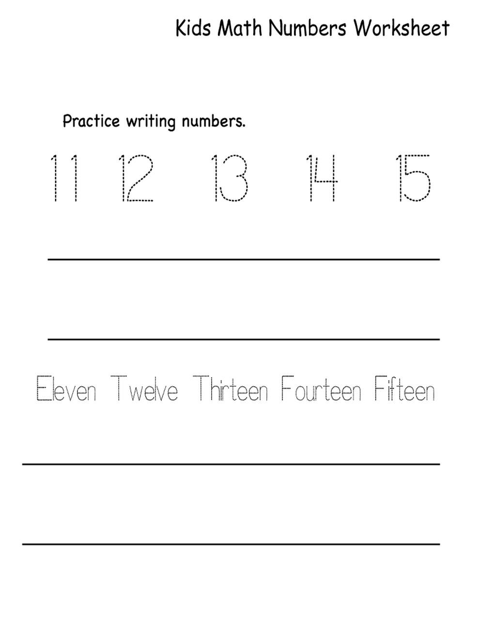 learning numbers worksheets printable