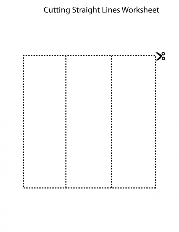 line worksheet for kindergarten activity