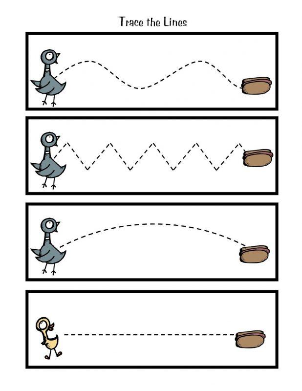 line worksheet for kindergarten fun