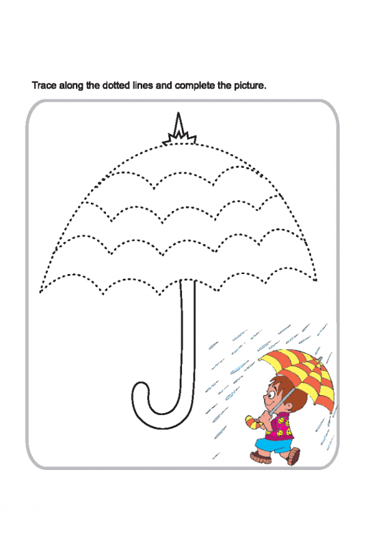 line worksheet for kindergarten page