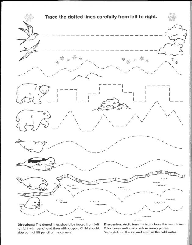 line worksheet for kindergarten printable