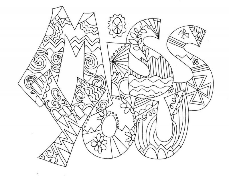 miss u card coloring