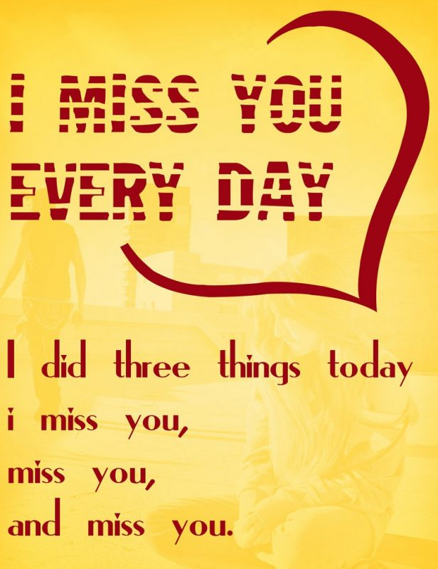 miss u card printable