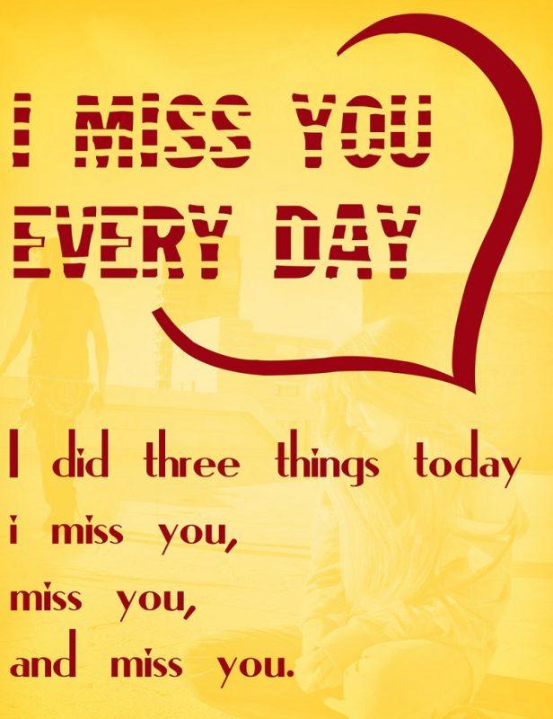 miss u card printable