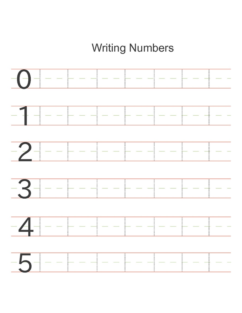 numbers activities for preschoolers writing