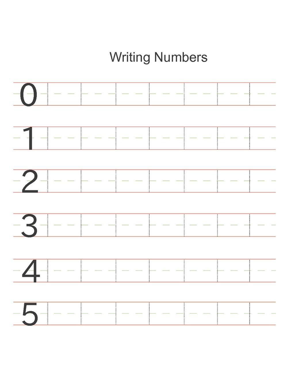 numbers activities for preschoolers writing