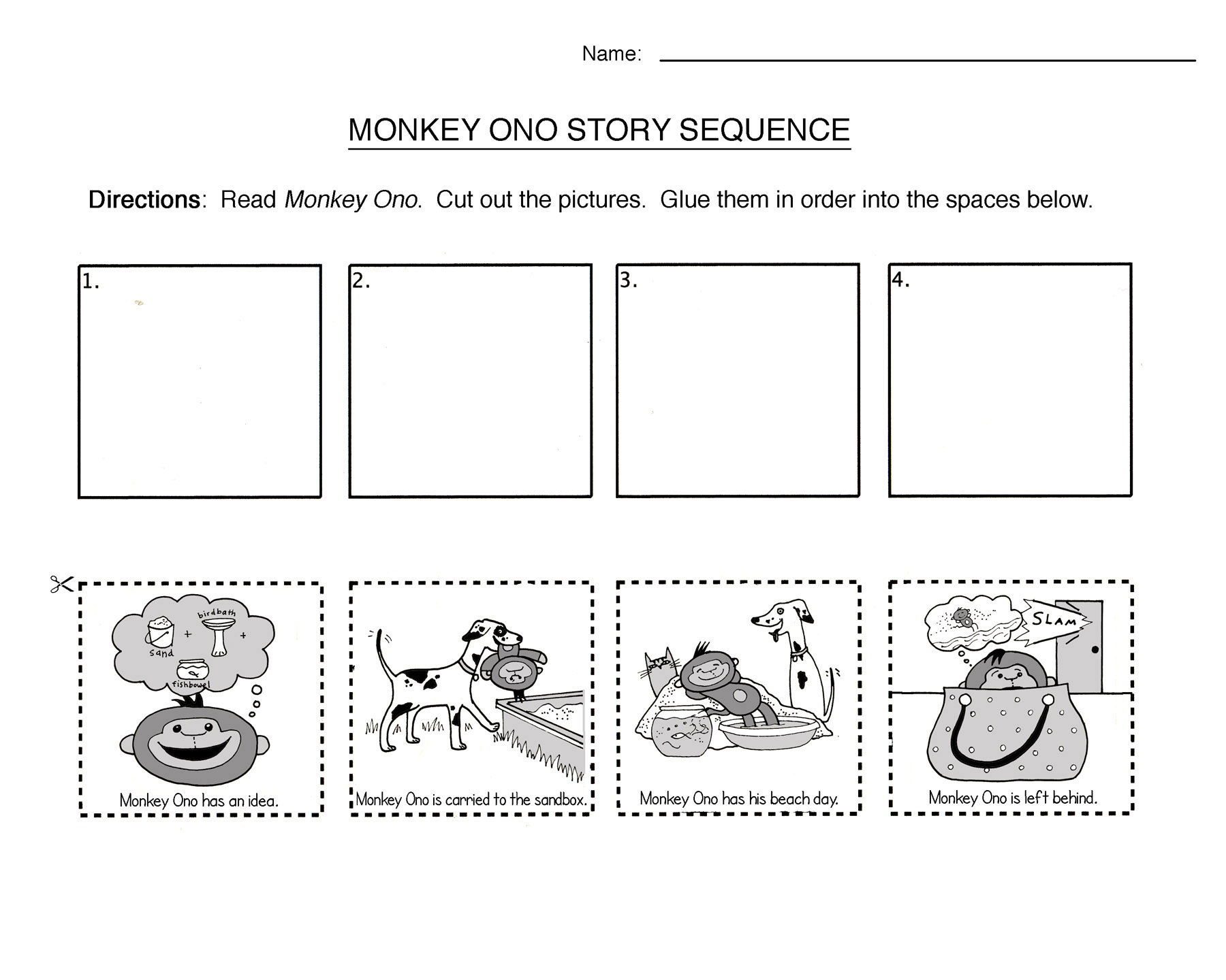 story worksheets for kindergarten fun