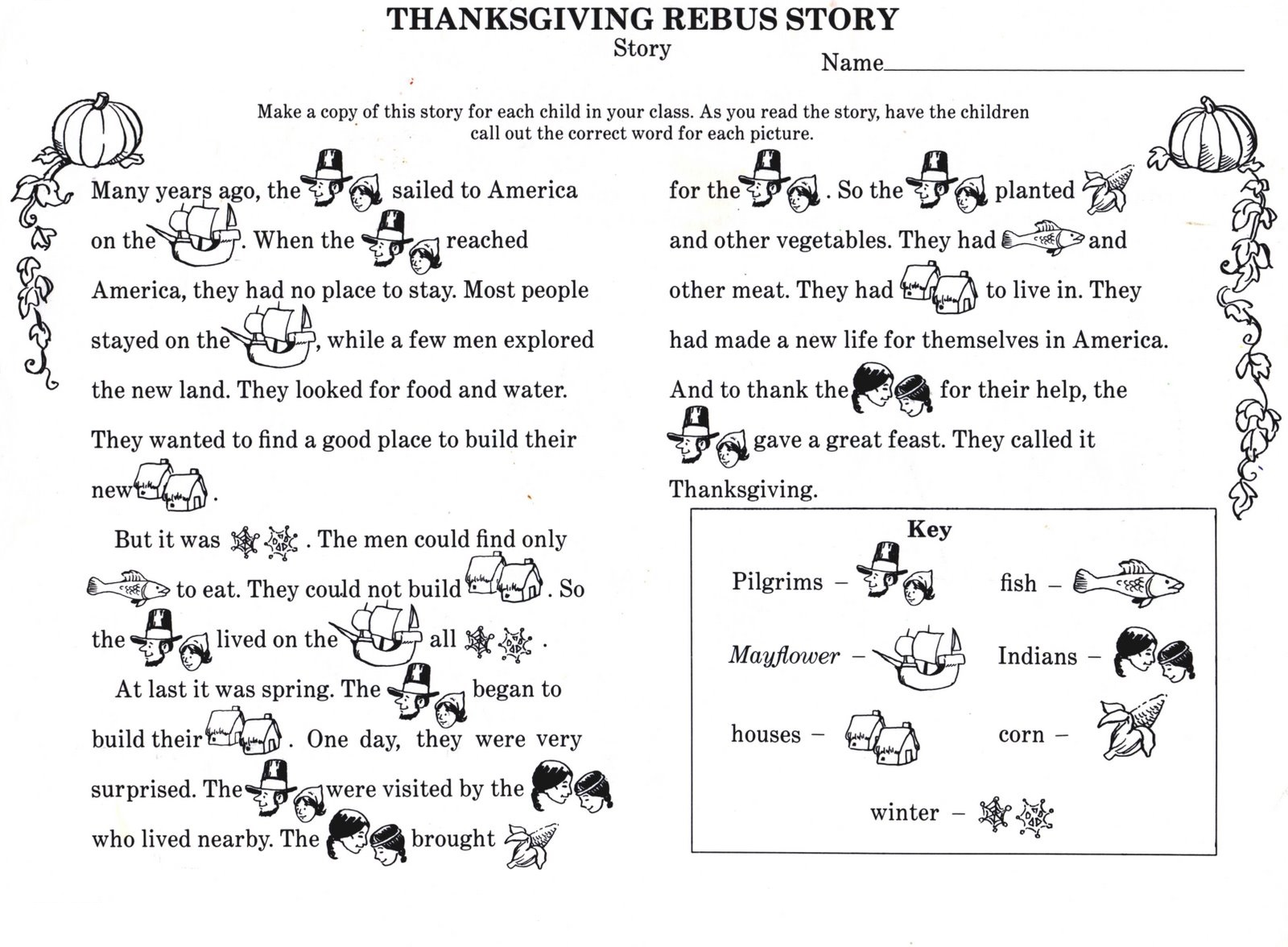 story worksheets for kindergarten page