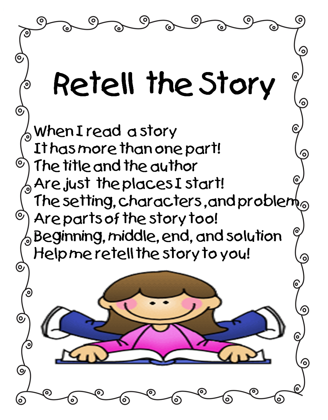 story worksheets for kindergarten retell