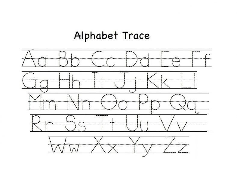 Traceable upper and lowercase alphabet learning printable for Traceable alphabet templates