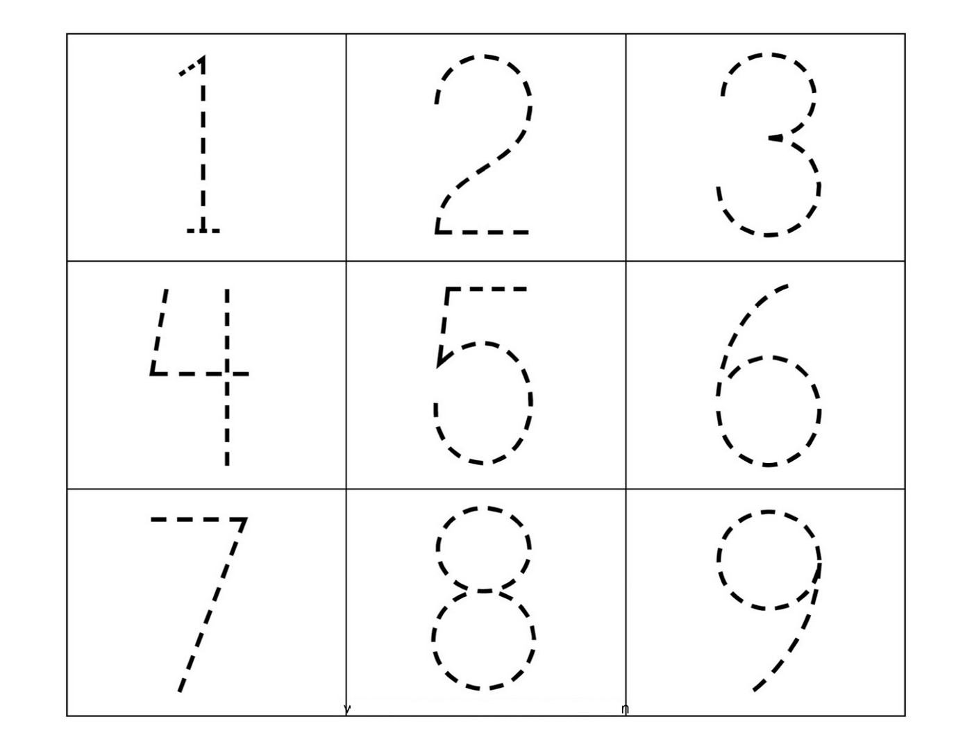 Numbers 1-5 Traceable | Learning Printable