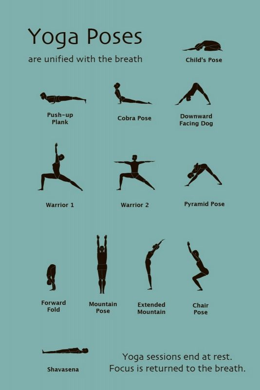 yoga at home for beginners free printable