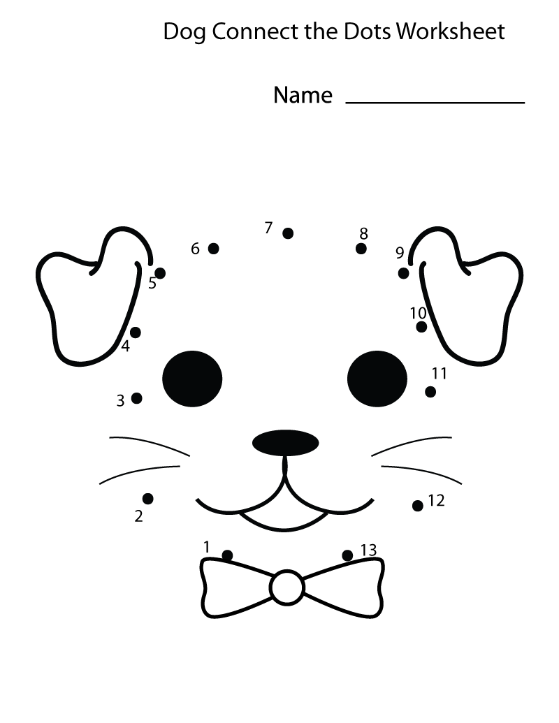 Activity Page for Preschool dot to dot