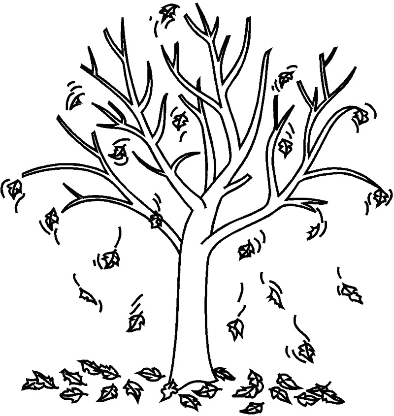 Animation Tree Fall Coloring Pages