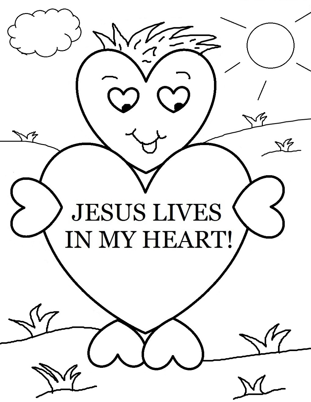 Christian Coloring Pages Preschool