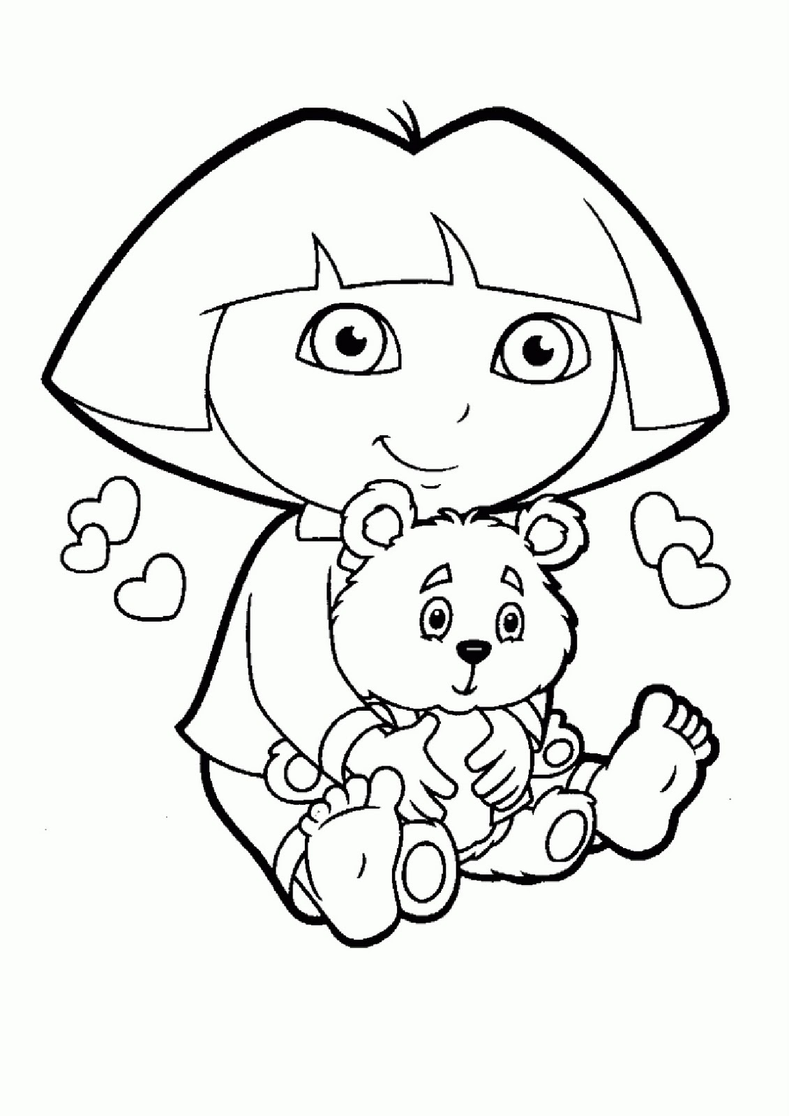 Colour Cartoon Dora