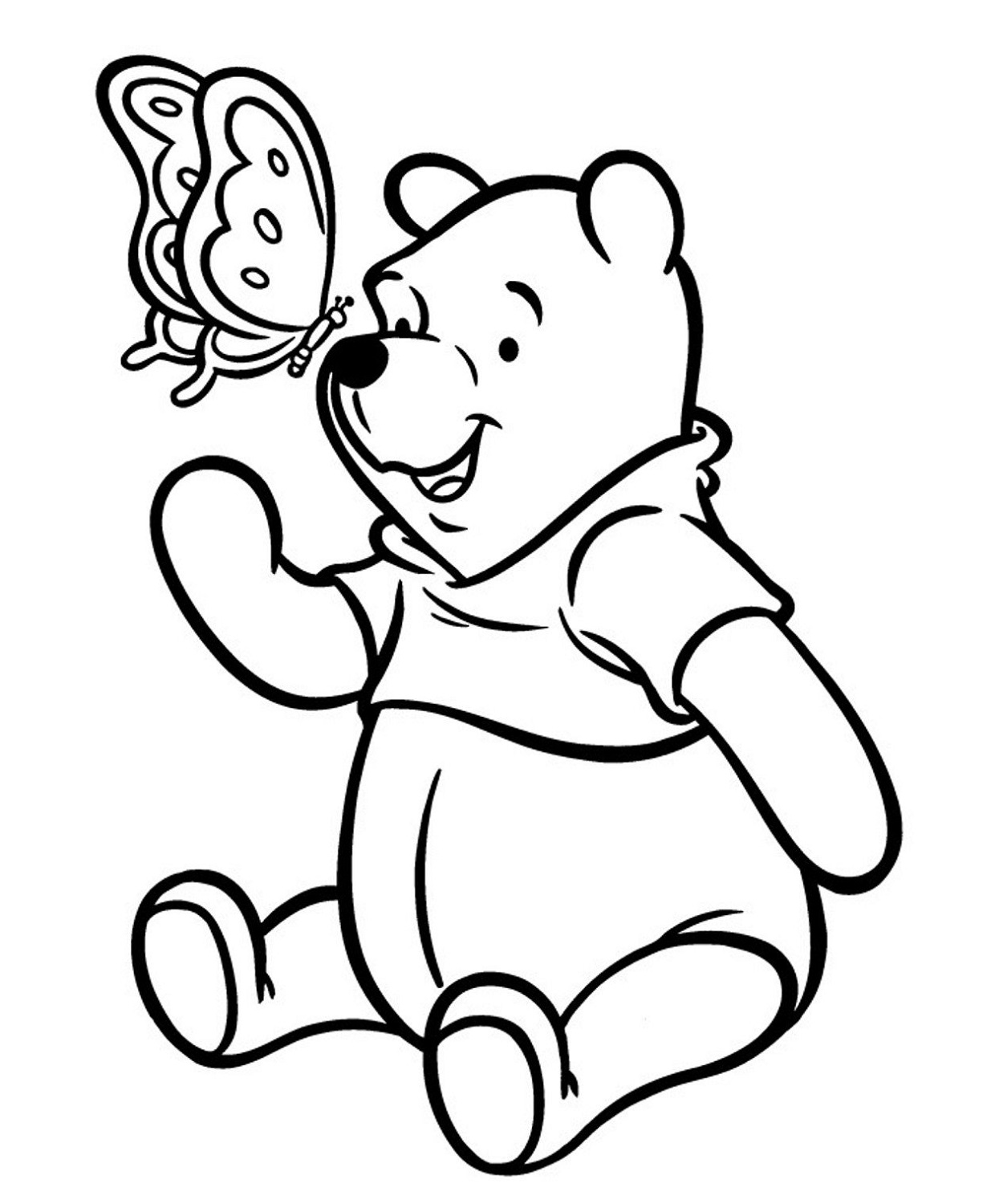 Colour Cartoon Pooh – Learning Printable