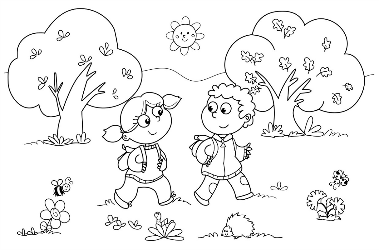 Cool Coloring Pages for Preschools