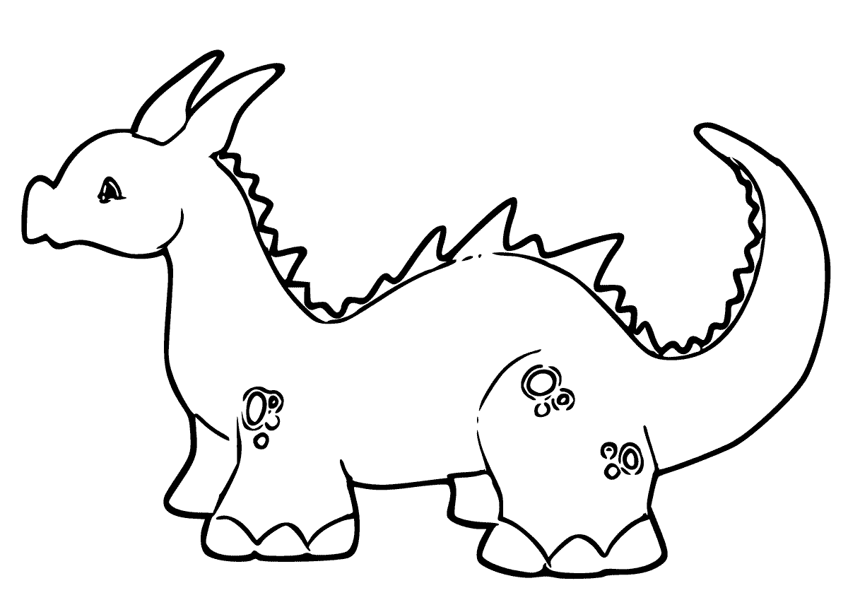 Dragon coloring pages pdf learning printable for Dragon coloring pages pdf