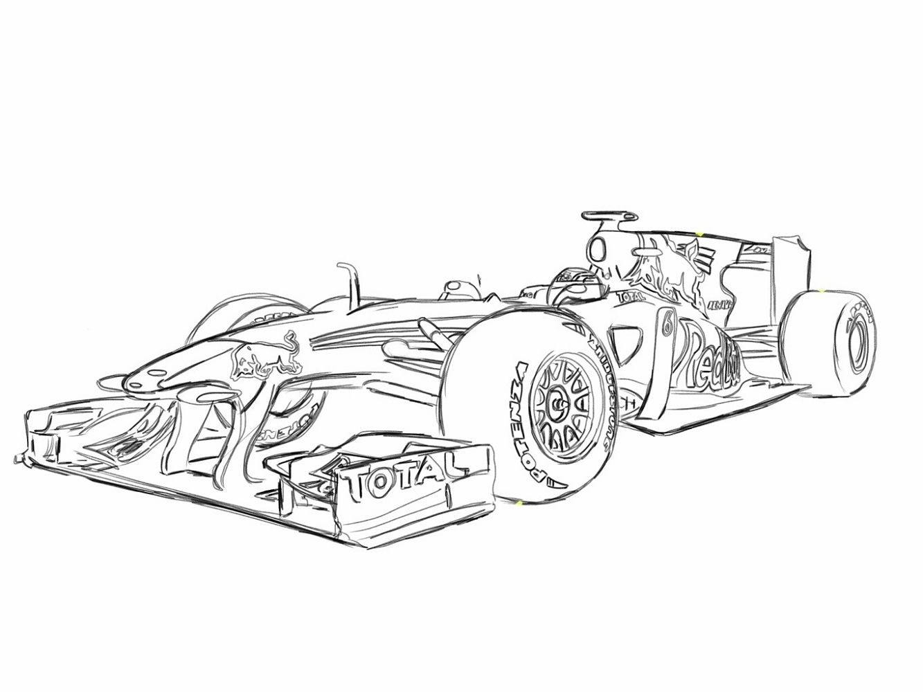 F1 Car Coloring Pages