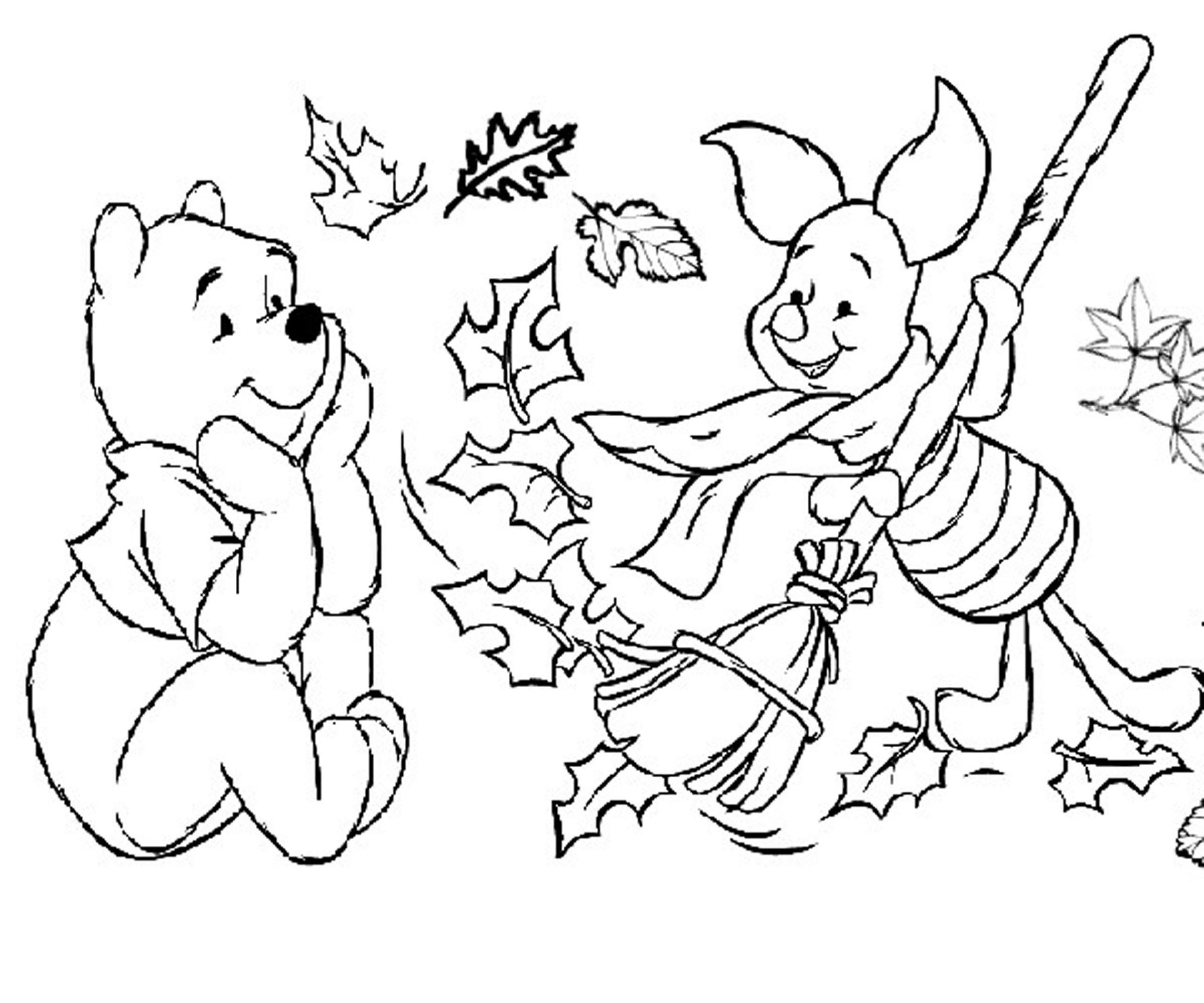 Fall Coloring Pages for Kindergarten | Learning Printable
