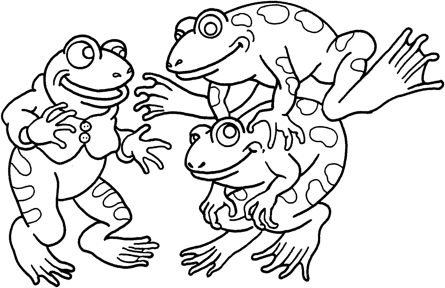Frog Coloring Pages for Children