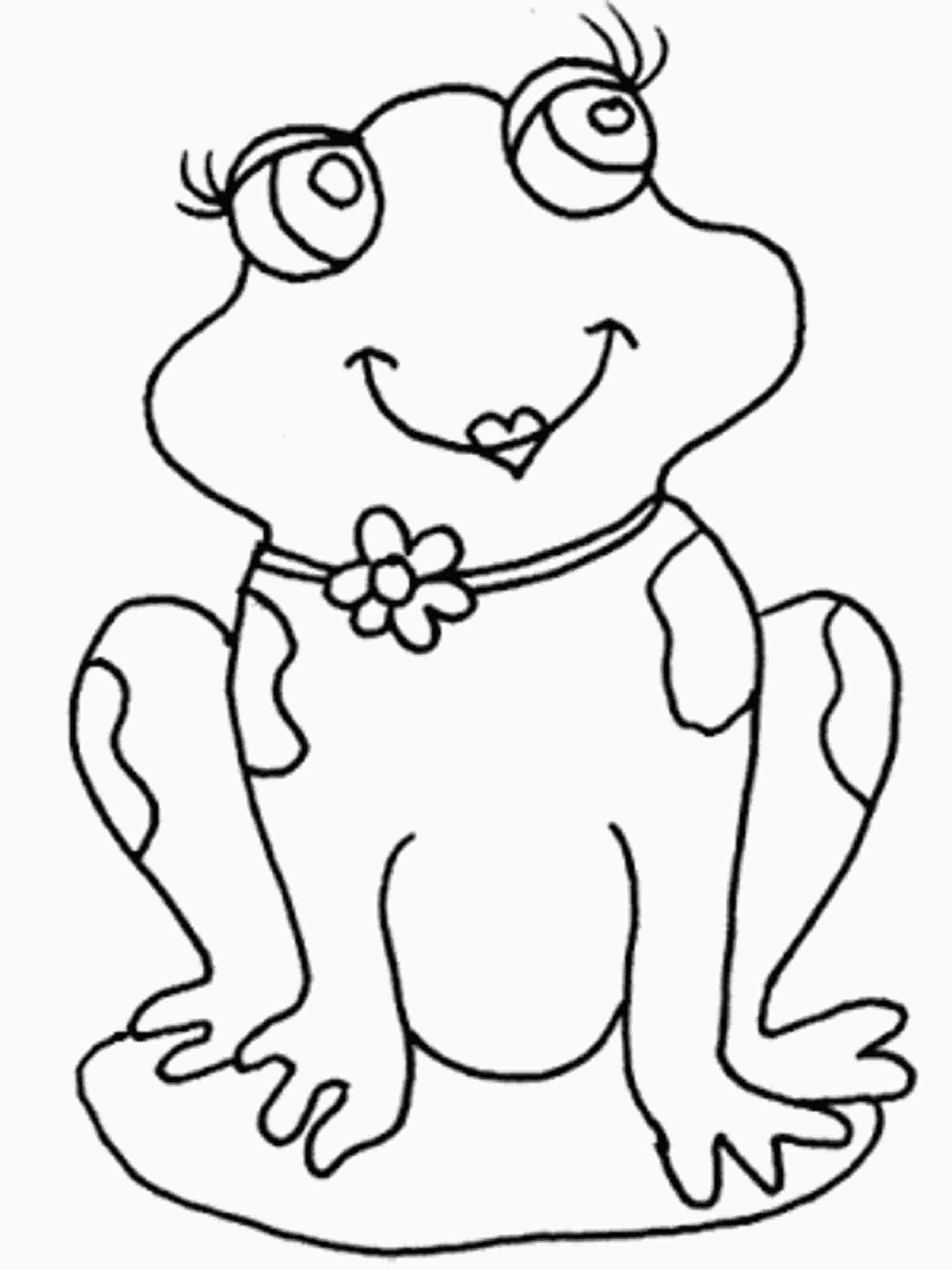 Frog Coloring Pages for Girls