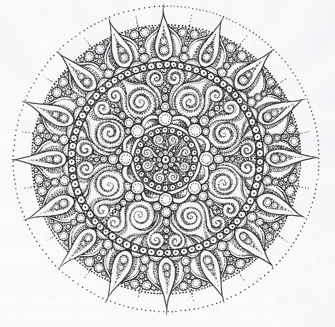Mandala Printable Coloring Pages
