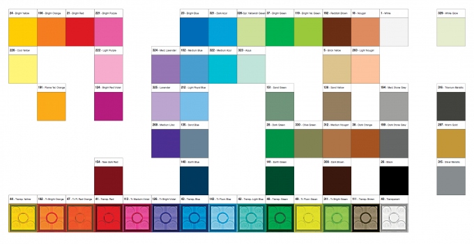 Minecraft Colors Chart