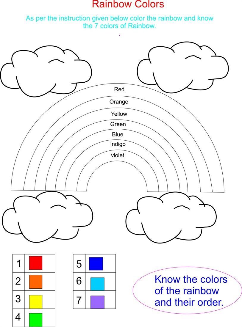 Number Color Activities for Kindergarten
