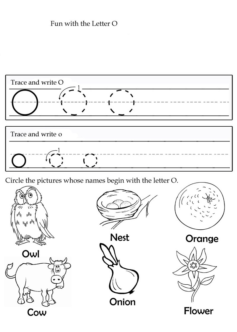 picture relating to Printable Letter O named Printable O Worksheet Mastering Printable