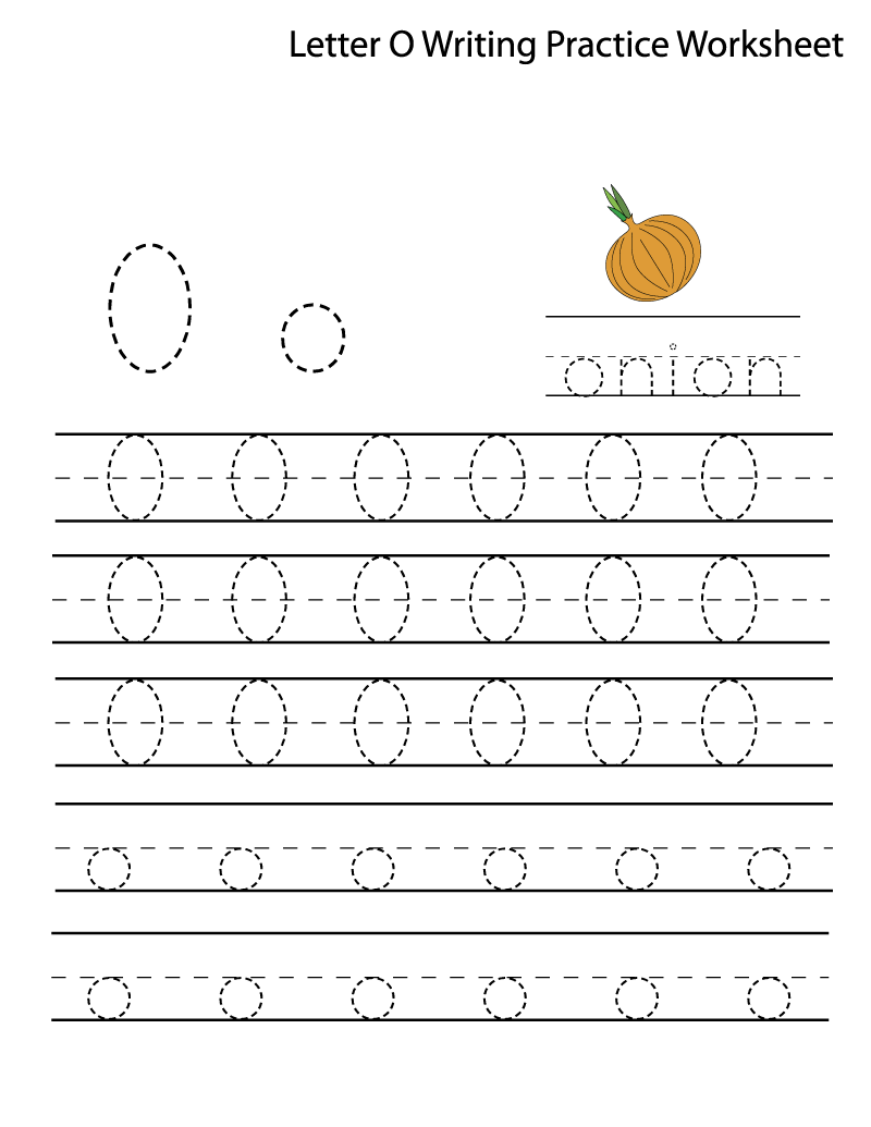 O worksheet printable