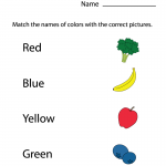 Preschool Worksheets Matching