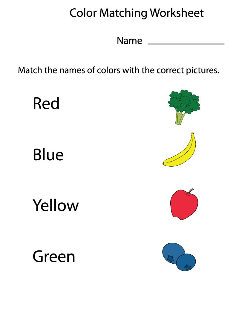 Preschool Worksheets Matching
