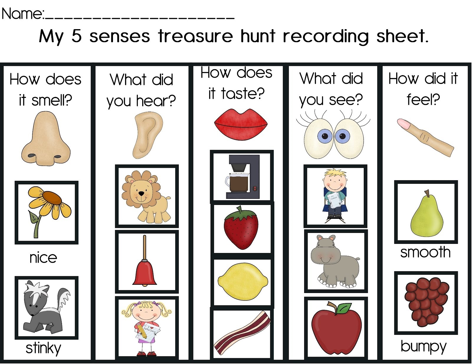 activities for 5 senses for kids